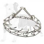 Chrome Plated Pinch Dog Collar - 1/6 inch (3.99 mm) Wide