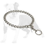 Chrome Plated Choke Dog Collar for Training 1/8 inch (3.5 mm)