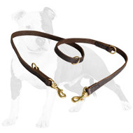 All-round Leather Dog Leash Usable in 7 Modes