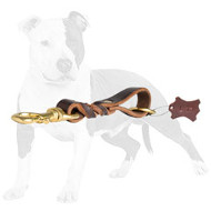 Braided Leather Pull Tab for Dog Training