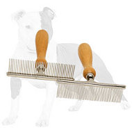 Metal Brush Equipped with Wooden Handle