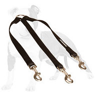 Triple dog leash - nylon coupler for walking 3 dogs