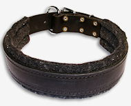 Best Padded Leather dog collar - 1.5 inch (3.8cm) width - C24-Dog Supplies