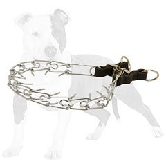 Fashion Chrome Plated Pinch Dog Collar with Quick Release Buckle 1/8 inch (3.25 mm)