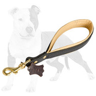 Short Leather Dog Leash for Better Dog Control