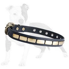 Manufactured of Genuine Leather Collar