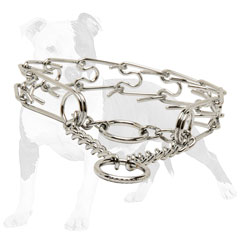 Steel chrome plated steel pinch dog collar