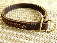 Gorgeous Wide 2 Ply Leather Choke Dog Collar - Fashion Exclusive-Dog Supplies
