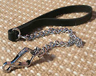 Exclusive HS dog leash with leather handle (Made in Germany)