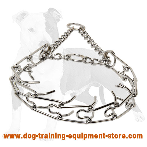 Obedience Training Chrome Plated Pinch Dog Collar 1/8 inch (3.2 mm) link diameter