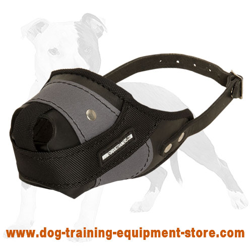 Leather and Nylon Dog Muzzle for Agitation and Protection Work