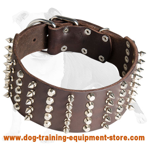 3 inch Spiked and Studded Dog Collar