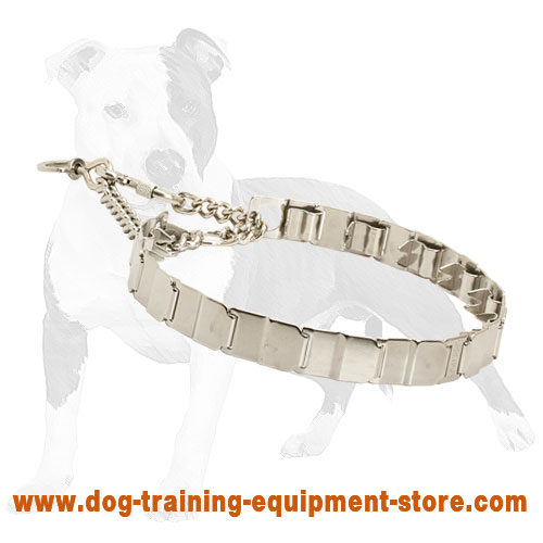 Neck Tech Stainless Steel Pinch Dog Collar of Advanced Comfort 19 inch (48 cm)