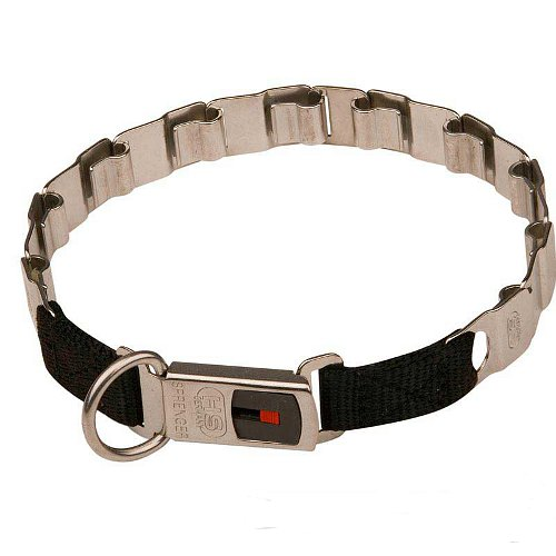 Premium Class Stainless Steel Neck Tech Dog Collar 24 inch (60 cm)