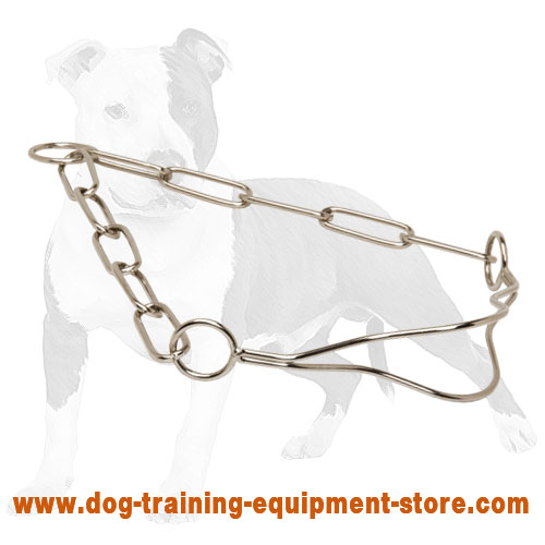 Excellent Show Dog Collar with Fur Saving Links