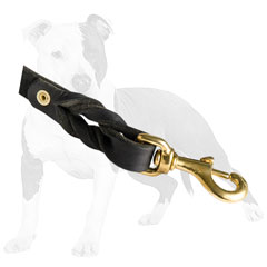 Leather leash with sturdy snap hook