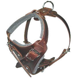 Leather dog harness for walking,tracking,pulling,training and more..