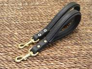 Short leather dog leash- short dog lead