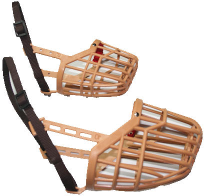 plastic wire basket dog muzzle
