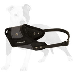 Leather and Nylon Dog Muzzle for Attack Work