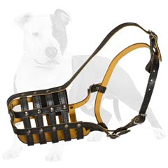 Excellent choice leather dog muzzle