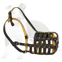 Leather cage muzzle multifunctional