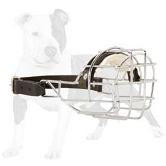 Easy to be fixed wire cage dog muzzle