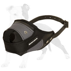 Leather and Nylon Agitation Muzzle