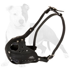 Leather Dog Muzzle with Adjustable Straps