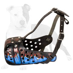 Highly protective muzzle for your dog's agitation work
