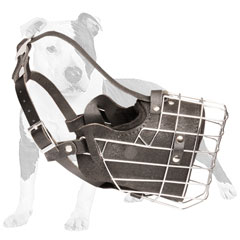 Agitation Wire Cage Muzzle with Leather Padding