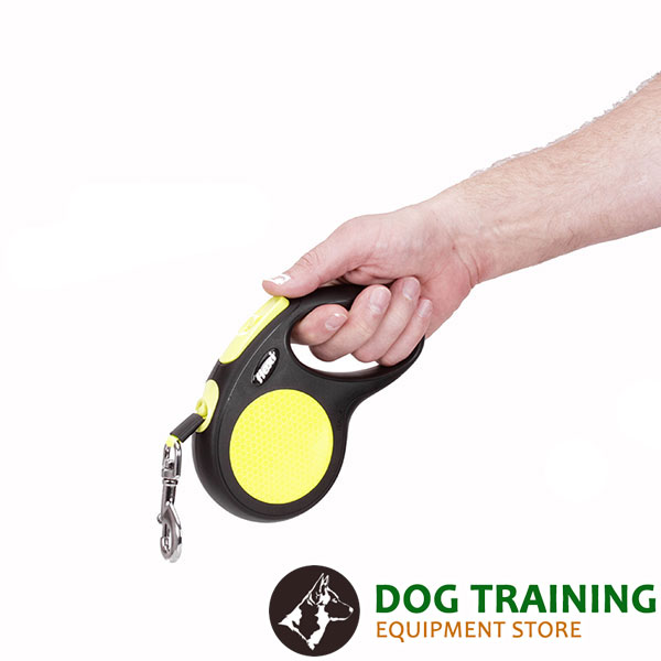 Neon Flexi Dog Lead for Handling Medium Breeds