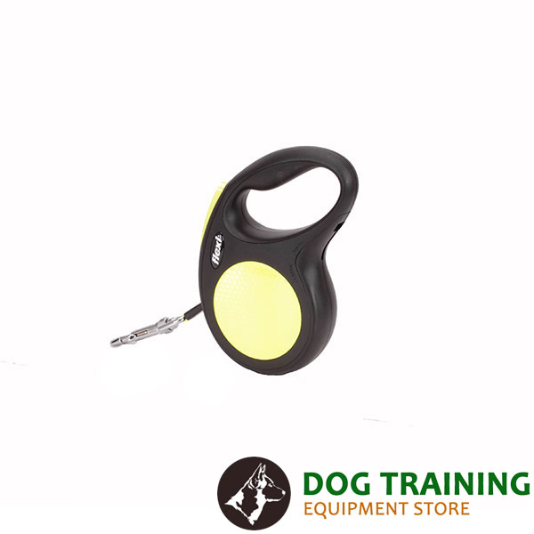 Walking Total Safety Retractable Leash Neon Design