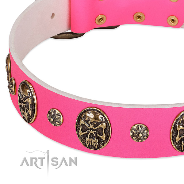Comfortable dog collar handcrafted for your lovely dog