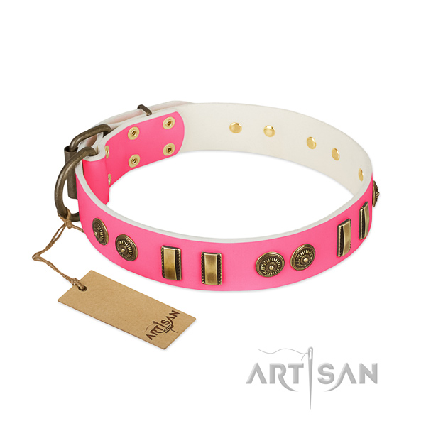 Trendy leather collar for your doggie