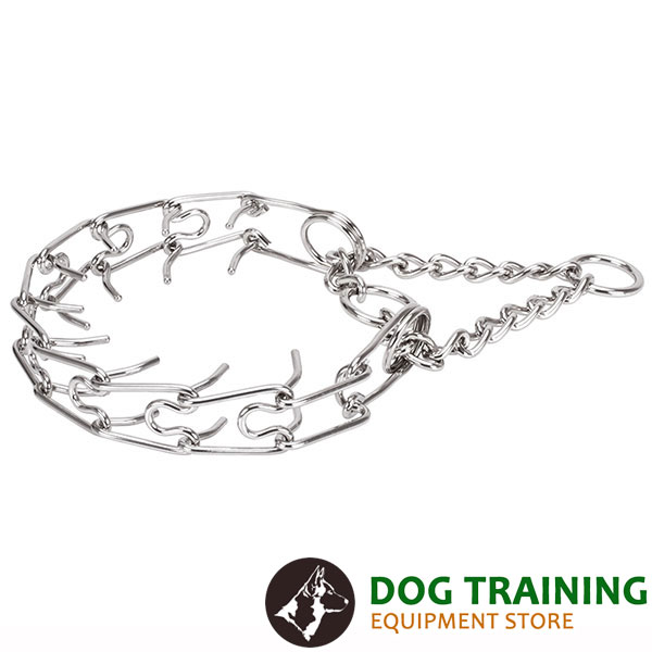 Dog pinch collar of durable stainless steel for large breeds