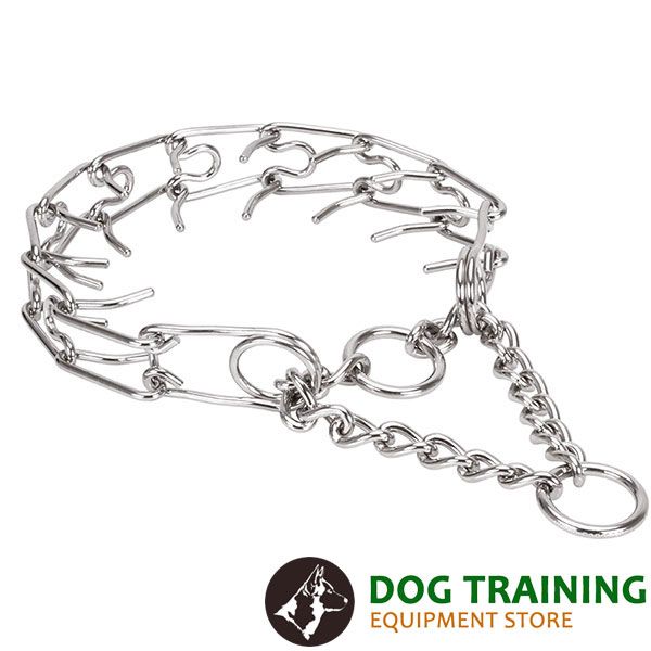 Large pets stainless steel dog pinch collar