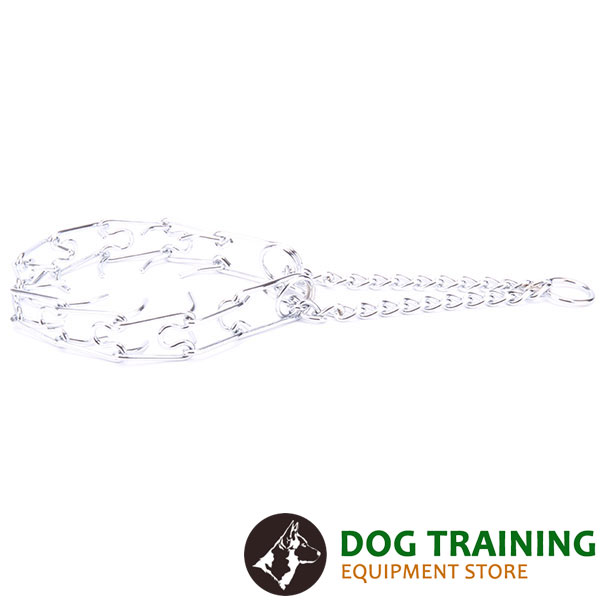 Best quality chrome plated pinch collar for obedience training
