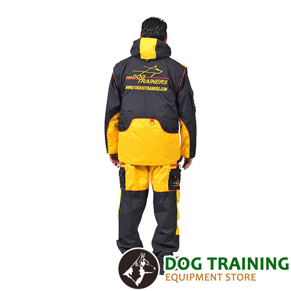Membrane Fabric Dog Training Suit with Side Pockets