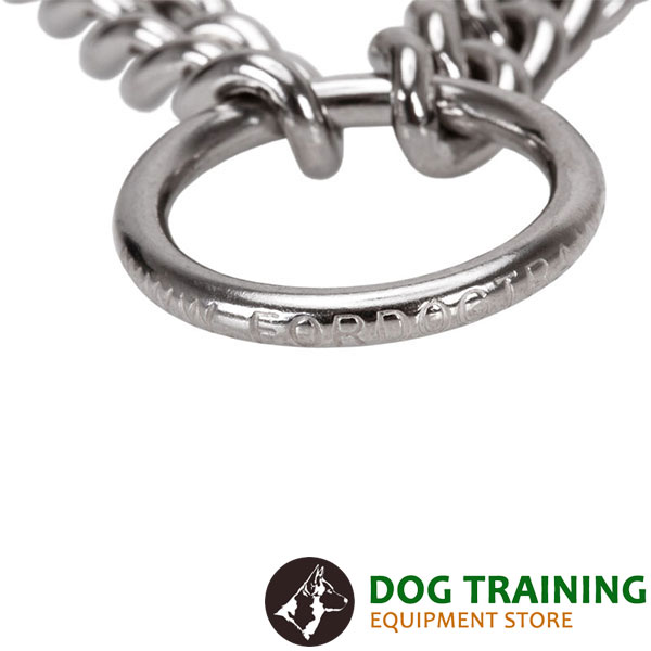 Dog pinch collar with reliable stainless steel O-ring