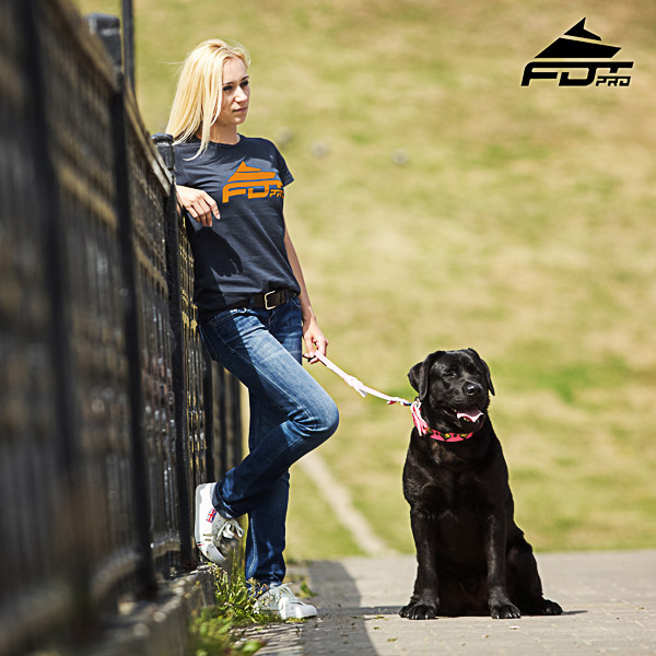 Dog Training Women T-shirt of Top Quality Cotton