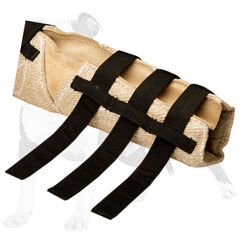 Protective bite dog jute sleeve for heavy-duty training