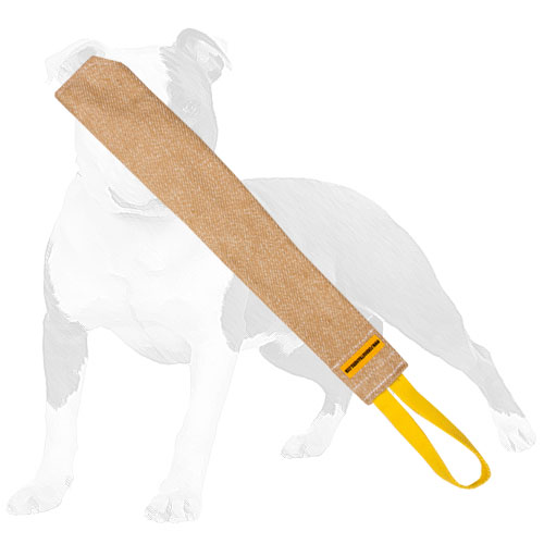 Dog bite tug for training with handle