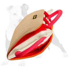 Reliable biting pad for dog training with handles
