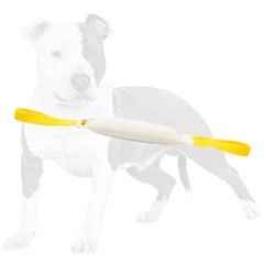 Reliable bite tug for dog training with handles