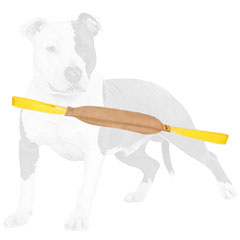 Durable bite leather dog tug for training with handles