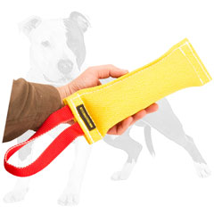 Reliable bite dog tug with 1 handle