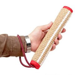 Rolled jute dog tug for bite training