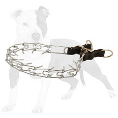 Pinch dog collar with smooth links