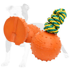 Extra durable     rubber toy for playing